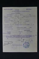 GUERRE 1939/45 - Certificat Franco / Allemand De Rapatriement De Réfugiés En Véhicules Automobiles En 1940 - L 85059 - Documentos