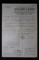 GUERRE 1939/45 - Certificat Franco / Allemand De Rapatriement De Réfugié Par Chemin De Fer De Alès En 1940 - L 85061 - Documentos