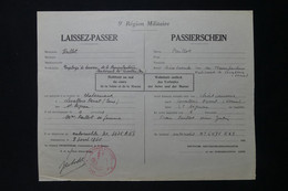GUERRE 1939/45 - Laissez-passer Franco/Allemand De Châteauroux à Levallois Perret En 1940 En Voiture - L 85062 - Documentos