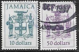Jamaica   1987  Sc#664  $10  & #664D  $50  2016 Scott Value $5 - Jamaica (1962-...)