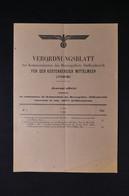 GUERRE 1939/45 - JO Des Ordonnances Allemandes Concernant Les Zones Côtières Méditerranéennes Du 5 Juin 1944 - L 85065 - Documentos