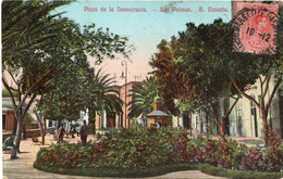 GRAND CANARIA - LAS PALMAS - PLAZA DE LA DEMOCRAZIA - FORMATO PICCOLO - VIAGGIATA 1913 - (rif. C98) - Gran Canaria