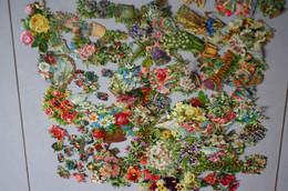 CHROMO 19ème Découpis Gaufrée Fleurs (plus De 125 Chromos) - Fleurs