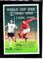 Soccer World Cup 2002 - GHANA - S/S MNH - 2002 – Corea Del Sur / Japón