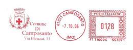 ITALIA - 2006 Comuni D'Italia: CAMPOSANTO (MO) - Stemma: 2 Spade E Croce - Ema Affrancatura Meccanica Rossa Red Meter - Marcophilie - EMA (Empreintes Machines)