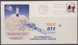 USA -  1977 - ESA EXPERIMENTAL  SATELLITE  ILLUSTRATED COVER WITH  CAPE CANAVERAL SEP 13 1977  POSTMARK - Stati Uniti
