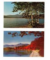 2 Different New Hampshire, USA, Mt. Chocorua & Lake Chocorua, Old Chrome Postcard - Ohne Zuordnung