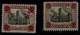 BELGIUM 1915-21 VIEWS Wed No 124, 166 MNH VF !! - Nuevos