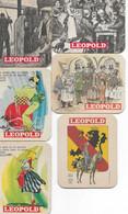 Bierviltjes   6 Stuks Leopold - Sotto-boccale