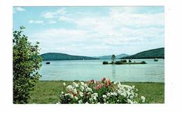 MEREDITH, New Hampshire, USA, Lake Winnipesaukee, Old Chrome Postcard - Sonstige