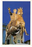 Italie Lazio Rome Roma Marcaurelio Statue Cheval Chevaux Homme Histoire Patrimoine Edifice - Autres Monuments, édifices