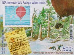 FRENCH POLYNESIA, 2020, MNH ,150th ANNIVERSARY OF BALLOON POST, S/SHEET - Post