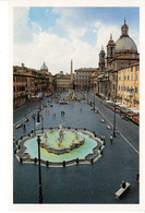 Italie Italia Lazio Rome Roma Plazza Novara Place Navone Fontaine Sculpture Monument Histoire Patrimoine - Places & Squares