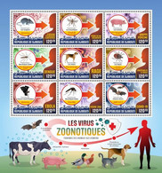 DJIBOUTI 2020 - Zoonotic Viruses. Official Issue [DJB200418] - Djibouti (1977-...)