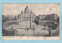 ROMA  -  S. PIETRO  E  PALAZZO  VATICANO  -  1904  - - Non Classés