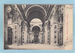 ROMA  -  BASILICA  DI  S.  PIETRO  -  L ' INTERNO  -  1904  - - Non Classés