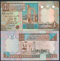LIBYA P62 1/4 DINAR 2002 UNC. - Libië