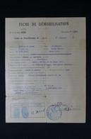 GUERRE 1939/45 - Fiche De Démobilisation Pour Un Chirurgien Fait à Brive En 1942 - L 85079 - Documentos
