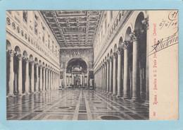 ROMA  -  BASILICA DI S. PAOLO ... INTERNO  -  1904  - - Non Classés