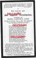 Oorlog Guerre J-B VerStraeten Hamme Gesneuveld Bombardement D'une Usine De Munitions Bousbecque Wervicq Sud 26 JUNI 1918 - Devotieprenten