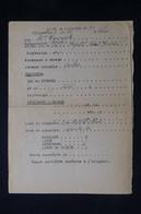 GUERRE 1939/45 - Carte De Sinistre Délivrée à Brest Le 3/11/1944 (sinistre De La Bataille De Brest De Sept 44) - L 85080 - Documentos