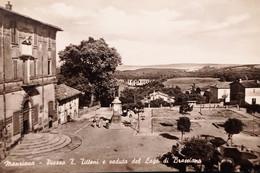Cartolina - Manziana - Piazza T. Tittoni E Veduta Del Lago Di Bracciano - 1959 - Non Classés