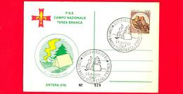 ITALIA - 1982 - Cartoncino - FSE - Scout - Campo Nazionale Terza Branca - Annullo Del 10-08-1982 - Antera (FR) - 1981-90: Marcophilie