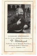 P. Hildebrand. Anvers 1950 - Devotieprenten