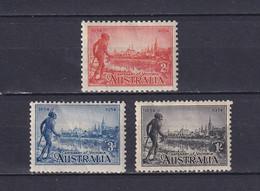 AUSTRALIA 1934, SG# 147-149a, CV £70, Architecture, MH - Mint Stamps