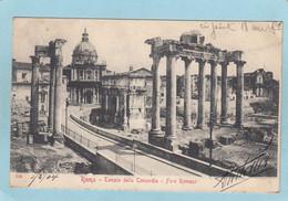 ROMA  -   TEMPLO  DELLA  CONCOEDIA  -  FORO  ROMANO  -  1904  - - Non Classés