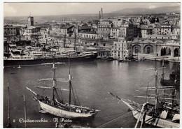 2 - CIVITAVECCHIA - IL PORTO - ROMA 1953 - BARCHE - NAVI - VELIERI - Civitavecchia