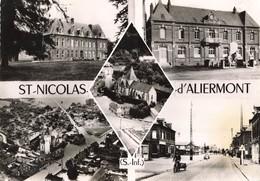 76 St Saint Nicolas D' Aliermont Carte 5 Vues CPSM GF Edit CIM Combier Cachet 1959 - Autres Communes