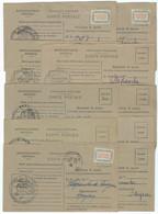 LOT DE 10 CARTES DE RAVITAILLEMENT GARE DE CAPDENAC AVEYRON - 1921-1960: Periodo Moderno