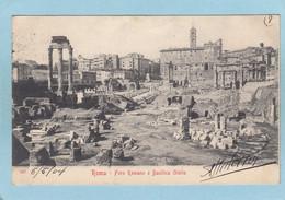 ROMA  - FORO  ROMANO  E  BASILICA  GIULIA  -  1904  - - Non Classés
