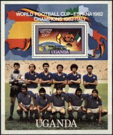 UGANDA, 1982, SPAIN, WORLD CUP, YV#B.38, SS, MNH - 1982 – Espagne