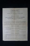 GUERRE 1939/45 -  Ville De Paris - Défense Passive - Consignes Pour Masques à Gaz - L 85085 - Documentos