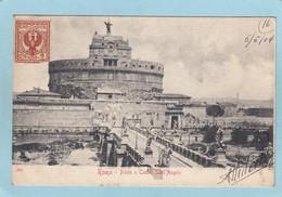 ROMA  - PONTE  E  CASTEL  SANT '  ANGELO -  1904  - - Non Classés