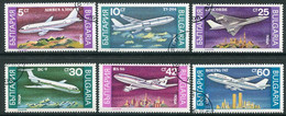 BULGARIA 1990  Passenger Aircraft  Used.  Michel 3858-63 - Gebraucht