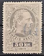 AUSTRIA 1874/75 - Canceled - ANK 14 - Telegraphenmarke 50kr - Usados