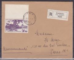 Oceanie Lettre #021 - 1953 Papeete En France, Lettre Recommande - Covers & Documents