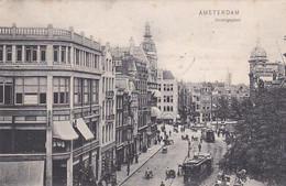 37687Amsterdam, Koningsplein (met Tram Lijn 2)(poststempel 1908) - Amsterdam