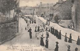 AUMONT (Lozère) -  Procession Du T. S. Sacrement - Les Congrégations - Aumont Aubrac
