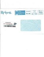 51 REIMS EMA Bleue 17/07/2018- Reims Fière'accueillir Coupe Du Monde Football Féminin 2018 Lettre Recommandée R1AR  1012 - Covers & Documents