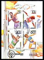 BULGARIA 1990 OLYMPHILEX Exhibition Block Used.  Michel Block 212 - Gebraucht