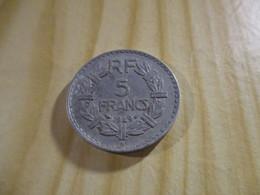 France - 5 Francs Lavrillier 1949 B Alu.N°1702. - J. 5 Francs