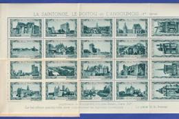 LA BELLE FRANCE XII LA SAINTONGE, LE POITOU ET L'ANGOUMOIS - CARNET COMPLET DE 20 TIMBRES-VIGNETTES - 1ère Série - Blocks & Sheetlets & Booklets
