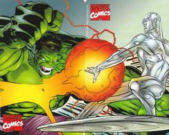 ITALY - Puzzle Of 2 Cards, Marvel Comics/Hulk & Iceman, Tirage 80000, Exp.date 30/06/01, Mint - Öff. Werbe-TK