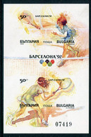 BULGARIA 1990  Olympic Games Imperforate Block  MNH / **.  Michel Block 211B - Gebraucht