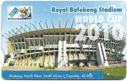 S. Africa - Telkom - FIFA Football Stadiums - Royal Bafokeng, Phokeng, Cn. TPBF, 25R, Used - South Africa