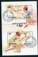 BULGARIA 1990  Olympic Games Block Used*.  Michel Block 211A - Gebraucht